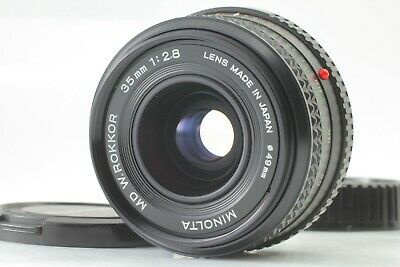 【Exc+++++】 MINOLTA MD W.ROKKOR 35mm f/2.8 Wide Angle MF Lens From Japan #097