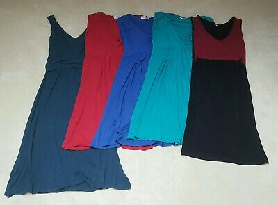Bundle Of 5 Summer Sleeveless Maternity Dresses Size 8