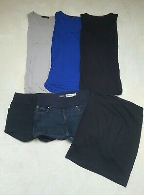 Bundle Of Summer Wear Maternity Clothes Size 8 Shorts Skirt Sleeveless Tops