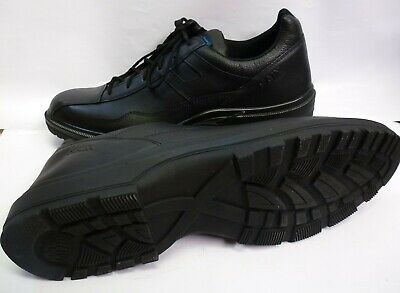 HAIX Airpower C7 US Black Leather Police service & leisure Shoes Size 11 w NEW