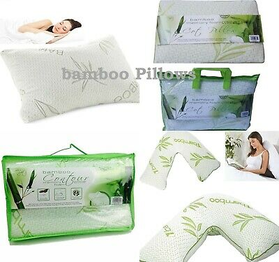 Luxury V shape Contour,Bamboo Memory Foam, Anti-Bacterial Premium Support Pillow