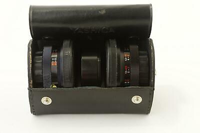 set of X703 Yashica aux Tele and Wide Yashikor attachments, cased