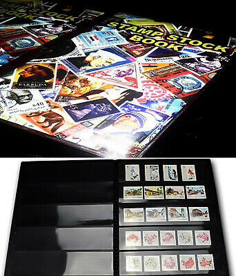 Premier PVC Postage Stamp Album Collection stock book 20 Pages for 600+ stamps