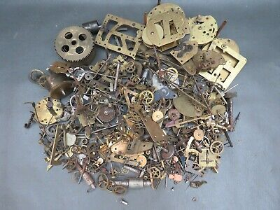 Job lot of vintage mixed clock & watch parts - parts spares steampunk