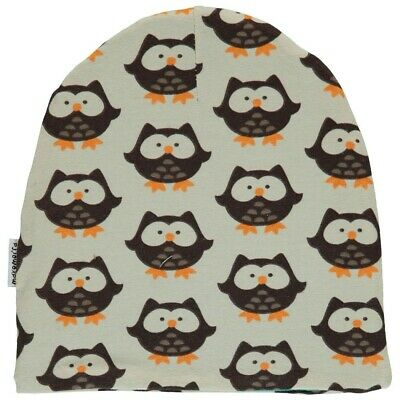 *NEW* Maxomorra - Owl Hat Organic Cotton Winter Hat - size 6 months