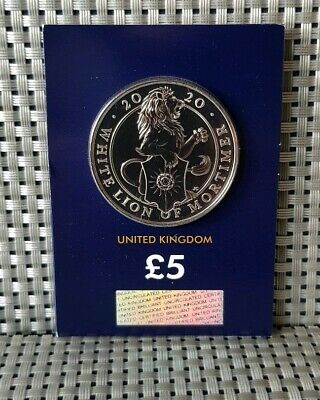 2020 The Queen's Beasts The White Lion Of Mortimer £5 Five Pound Coin Bu Sealed