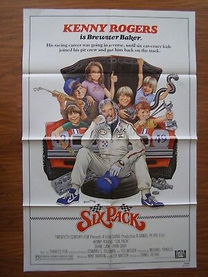 Vintage Movie Poster 1 Sheet 1982 Six Pack Kenny Rogers