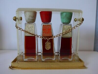 Coty Set Of 3 Asuma Muse De Coty & Le Vertige In Presentation Case Must See!