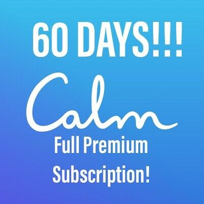 Calm Meditation App 2 Month Subscription Mindfulness App 60 Days iPhone Android