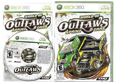 WORLD OF OUTLAWS SPRINT CARS XBox 360 disc, case  and manual