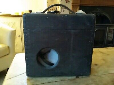 Vintage TOULET IMPERATOR PIGEON RACING TIMING CLOCK IN WOODEN BOX.