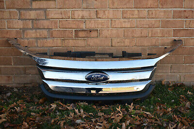 OEM NEW Front Lower Bumper Grille /& Trim Molding Black Chrome 10-12 Ford Fusion