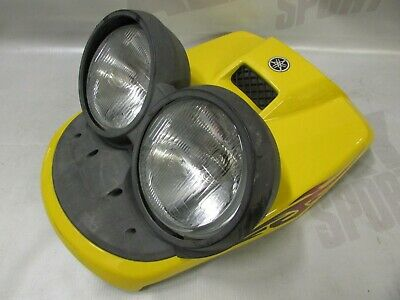 Used Yamaha Yellow Front Panel with Headlight / Phare assembly Scooter Bw's 2008