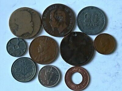 Job Lot Old & Antique various Europa World coins 1793-1949