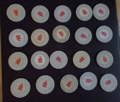 GOLD COAST CASINO 25¢ hotel casino gaming poker chips ~ LOT OF 20 ~Las Vegas, NV