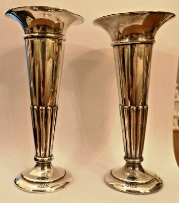 Vintage Mappin & Webb Pair Posy Vases W13157 Prince's Plate