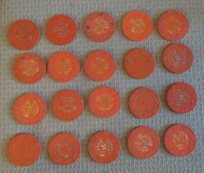 JOKERS WILD CASINO 25¢ hotel casino gaming poker chips ~LOT OF 20~ Henderson, NV