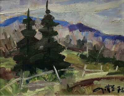 """Leo Ayotte, Canadian, oil painting, 1975, 8""""x10"""""""