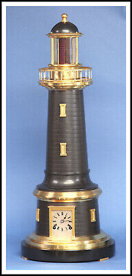 French Industrial Maritime Lighthouse Automaton Clock - Ships Worldwide