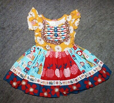 Wildflowers Clothing Baby Girls Back To School Dress - Size 12 Months - EUC