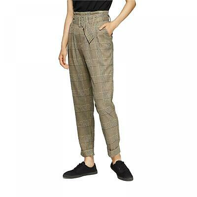 NWT Wild Fable Women's Plaid Menswear High-Rise Belted Paperbag Pants
