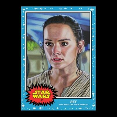 Topps -Star Wars Living Set Card #47 - Rey (Jakku) - Print Run: 1503