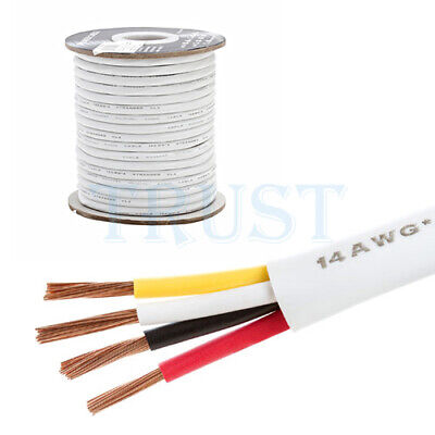 Speaker Wire 14 AWG 4 Conductor 100FT CL2 Rated Cable Brand Cmple