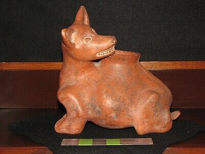 Pre Columbian, Pottery, West Mexican, Colima, Large Contemporary Dog Figure