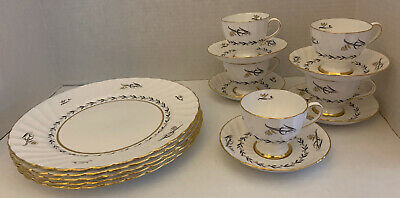 "RARE Tuscan Fine English Bone China ""Elite"" #F533 Porcelain Dinnerware Part Set"