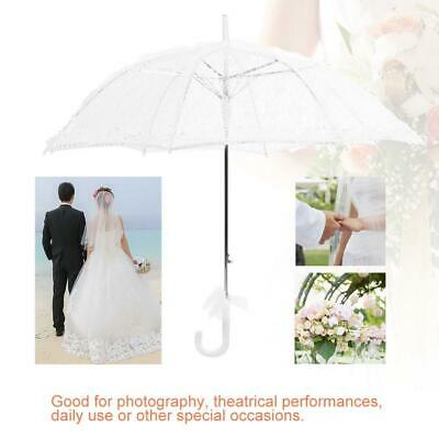 Lady Women Bridal Lace Umbrella Parasol Wedding Party Decor Photography Prop
