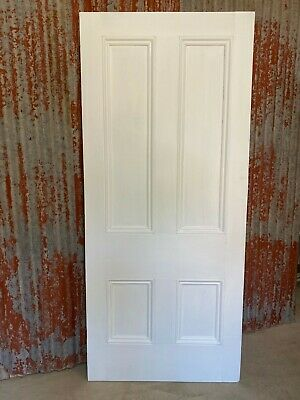 Huge Original Victorian 4 PANEL TIMBER SOLID DOOR 972 x 2225 old rustic Recycled