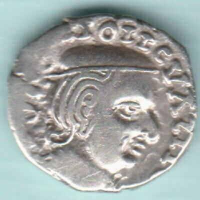 Ancient India Western Kshatrap Kings Potrate Rarest Silver Coin