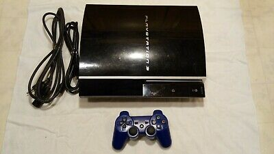 Sony PlayStation 3 PS3 80GB Console Backwards Compatible 1st Gen W/Controller