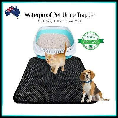 Double Layer Cat Litter Mat Waterproof Pet Cat Litter Trapping Catcher EVA L Mat