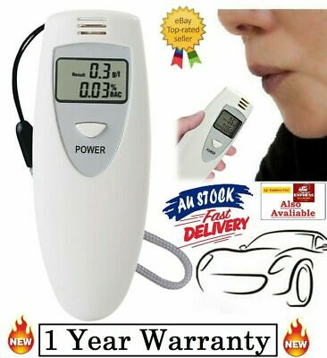 LCD Alcohol Breath Analyzer Digital Tester Breathalyzer Police Accurate Drink AU