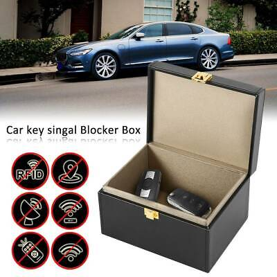 Faraday Box Car Key Signal Blocker Box Keyless Entry Fob Jammer RFID Key Box-L