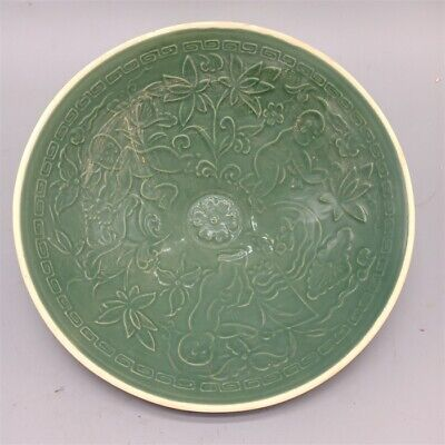 Beautiful old Chinese Song Ding Kiln Porcelain Boy hat bowl