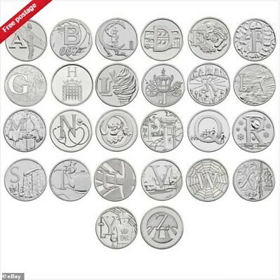 10p A-Z Alphabet 10 Pence 2019 & 2018 Uncirculated Coins - Choose Your Coin