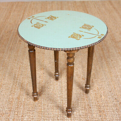 Antique Arts & Crafts Side Table Painted Console Table Occasional
