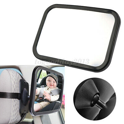 Universal Fit Large Wide View Car Seat Safety Mirror Adjustable Mount Headrest