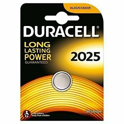 2x Duracell CR2025 3V Lithium Coin Cell Battery DL2025 BR2025 Long Lasting Power