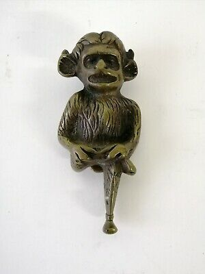 Antique Brass Lincoln Imp Door Knocker Gargoyle Curio