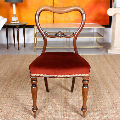 Antique Regency Rosewood Chair 19th Century Balloon Spoon Dining Chair