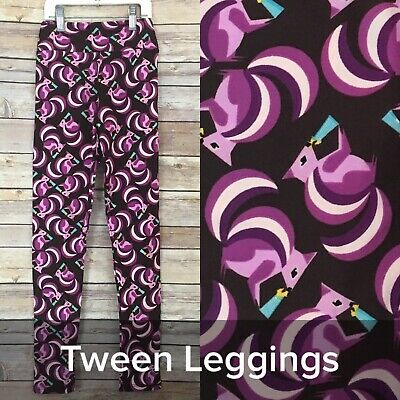NEW Lularoe Leggings TWEEN Squirrels Purple  Holding Blue Bottle LLR Girls