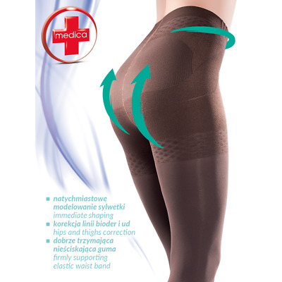 GABRIELLA Push Up Luxury Super Fine 20 Denier Slimming and Shaping Tights