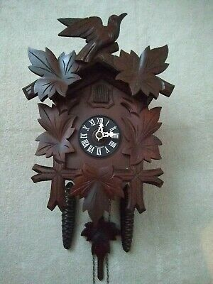 Black Forest mechanical Hubert Herr Cuckoo Clock in  Fantastic Condition