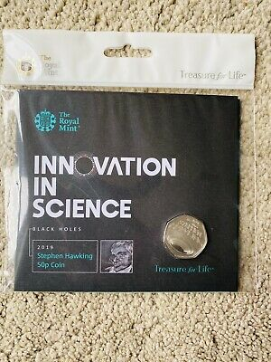Royal Mint 2019 50p Innovation in Science ( Stephen Hawkings ) B/Uncirculated