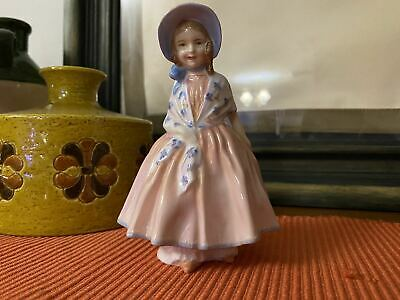 """Royal Doulton England Signed Hn1798 Pink And Blue Lily 4 3/4"""" Figurine 1936-1971"""