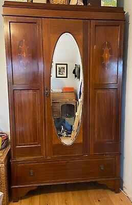 Vintage, antique wooden wardrobe (Edwardian) 1900 - 1910