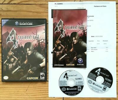 Resident Evil 4 Complet Boîte Notice Nintendo Gamecube Ntsc Us Usa Cib Ovp Re Iv